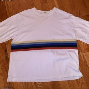 Rainbow stripe long sleeve top